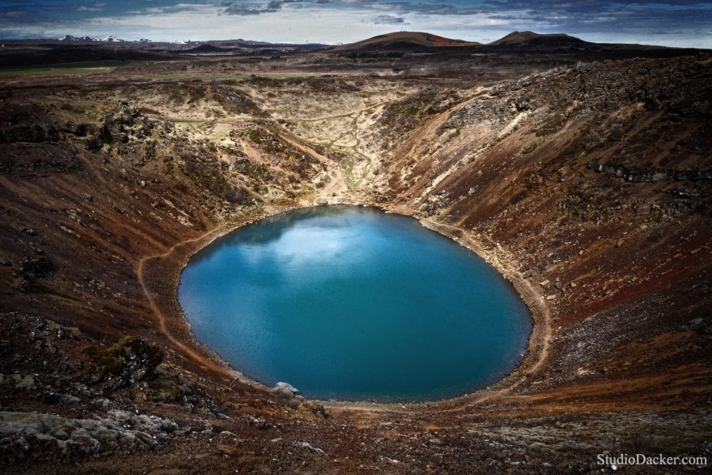 kerid Islande crater lake