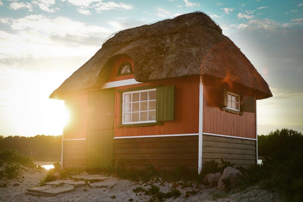 Danemark - cabane de pecheur sur la plage